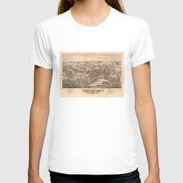 Aerial View of Arlington, Massachusetts (1884) T-shirt