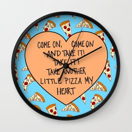 A Pizza My Heart Wall Clock