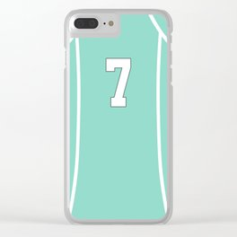 Watari's Jersey Clear iPhone Case