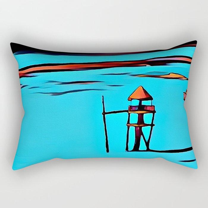 Baywatch Tower Rectangular Pillow