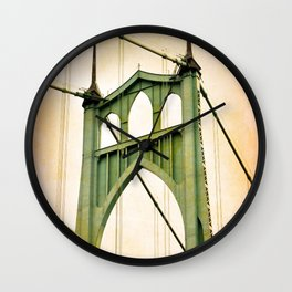 ST. JOHNS BRIDGE - PORTLAND Wall Clock