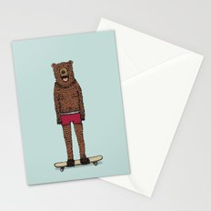 Bear + Skateboard Stationery Cards