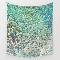 scales Wall Tapestries featuring Mermaid Scales by Lisa Argyropoulos