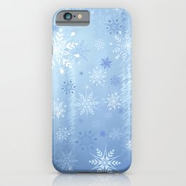 Christmas Snowflakes and Ice Background iPhone Case