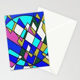 Geometric blue Stationery Cards