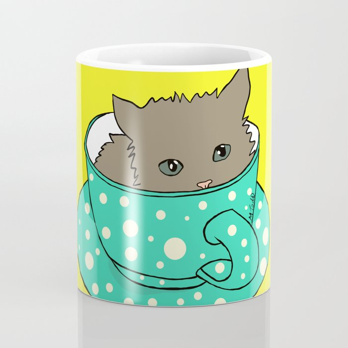 Kitten In A Teacup Coffee Mug