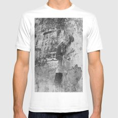 fading White Mens Fitted Tee MEDIUM