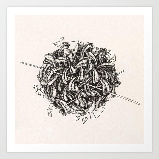 The Knitting Art Print