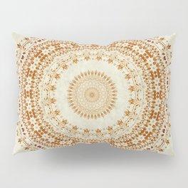 Mandala Desire in Golden Yellow Pillow Sham