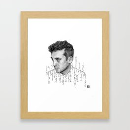 the Blitz cipher Framed Art Print