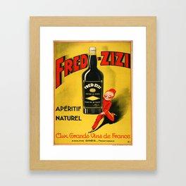 Vintage poster - Fred-Zizi Aperitif Framed Art Print
