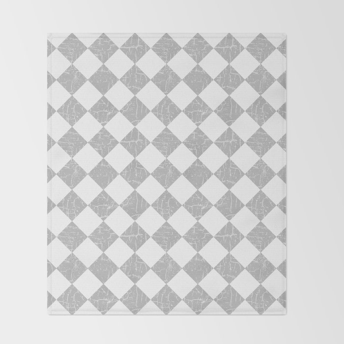 Rustic Farmhouse Checkerboard In Gray And White Throw Blanket By Beauteous Grey And White Throw Blanket