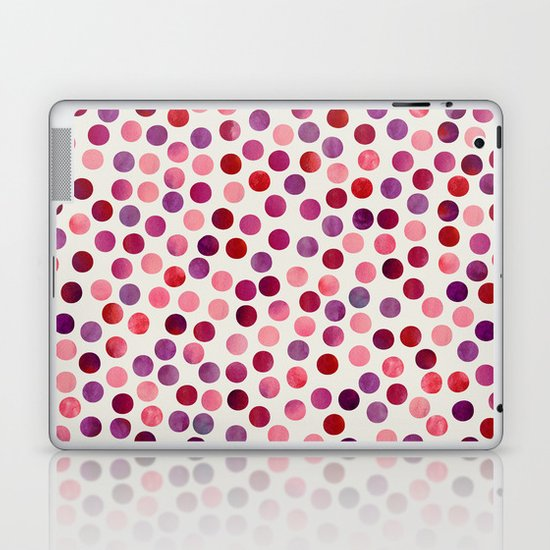Watercolor Dots_Berry by zJacqueline and Garima Laptop & iPad Skin