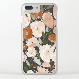 Indy Bloom Copper Poppy Garden Clear iPhone Case