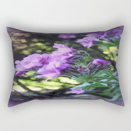 Textured Geranium  Rectangular Pillow