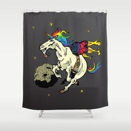 Space Unicorn Shower Curtain