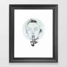 Prepare to evacuate soul. Framed Art Print