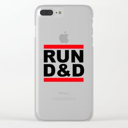 run D&D Clear iPhone Case