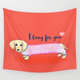 Valentine's Day dachshund dog Wall Tapestry