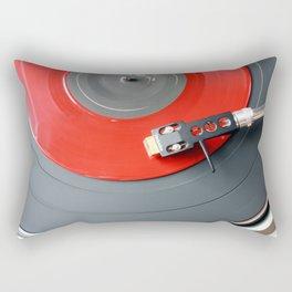 Red Vinyl Record Rectangular Pillow
