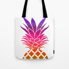 Rainbow Pineapple Tote Bag