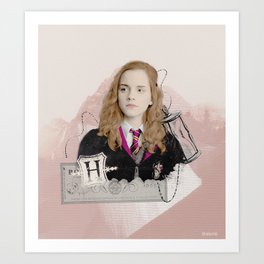 Hermione Granger - The Brightest Witch of Her Age! Art Print