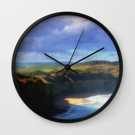 Our land is girt by Sea Wall Clock