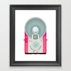 VINTAGE CAMERA PINK Framed Art Print