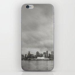 Vancouver Raincity Series - Raincity i - Moody Downtown Vancouver Cityscape iPhone Skin