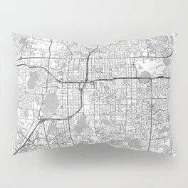 Orlando Map Line Pillow Sham