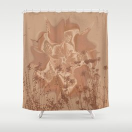 Drought Sunrise Shower Curtain
