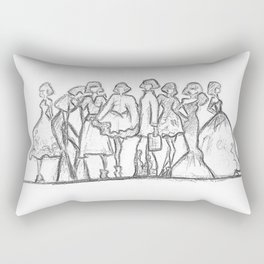 runway daze Rectangular Pillow