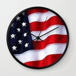 Patriotic Colorado Wall Clock