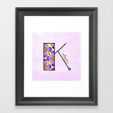 K {kay} Framed Art Print