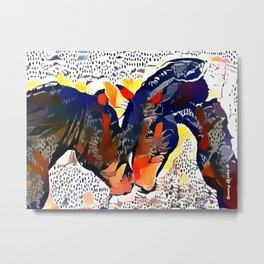 I Spotted Horses Metal Print