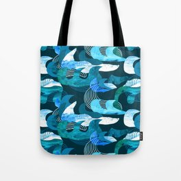 Dark ocean waves Tote Bag