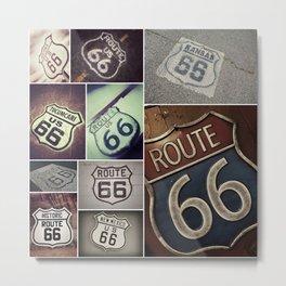 Historic U.S.  old Route 66. Metal Print