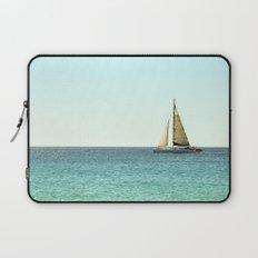 Sail Away with Me - Ocean, Sea, Blue Sky and Summer Sun Laptop Sleeve