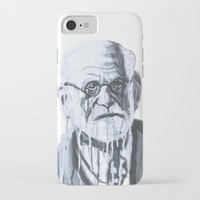 freud iPhone & iPod Cases featuring Sigmund Freud by Sobottastudies