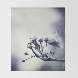 Spring in Black and White III Throw Blanket