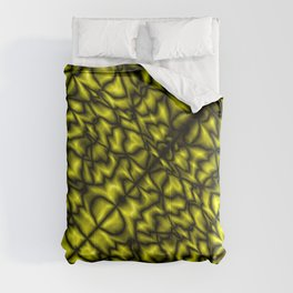 Fluttering symmetry with a crisp pattern of honey veins and splashes of marble craquelure. Comforters