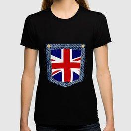 Union Jack Denim Pocket T-shirt