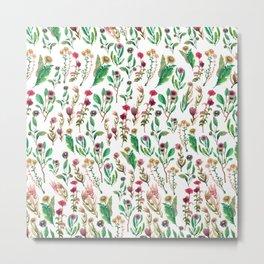 flowers wave Metal Print