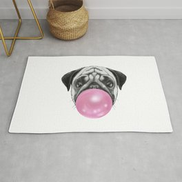 Blowing a Pubble or a Puggle Rug