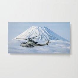 Bell AH-1Z Viper passes Mount Fuji Metal Print