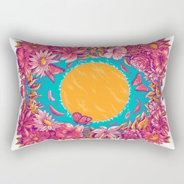 sunset in a lake Rectangular Pillow