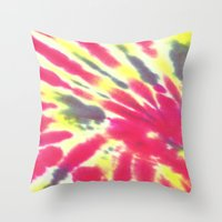 tie dye Throw Pillows featuring Tie Dye by vidixoxo
