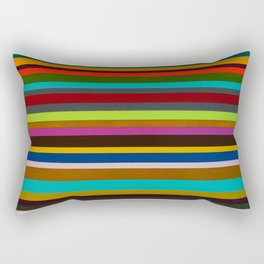 Pink Sands on the Horizon Stripe Study One Rectangular Pillow
