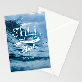 Be Still and Know that I am GOD Stationery Cards
