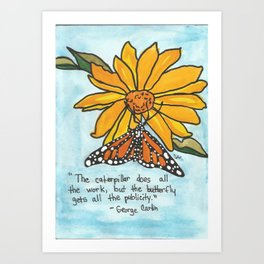 Butterfly Story Art Print